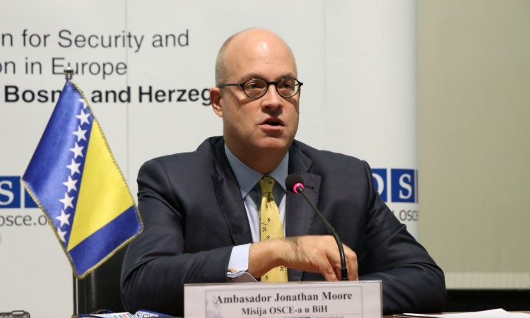 Ambassador Moore leaving the position of OSCE Head of BiH Office