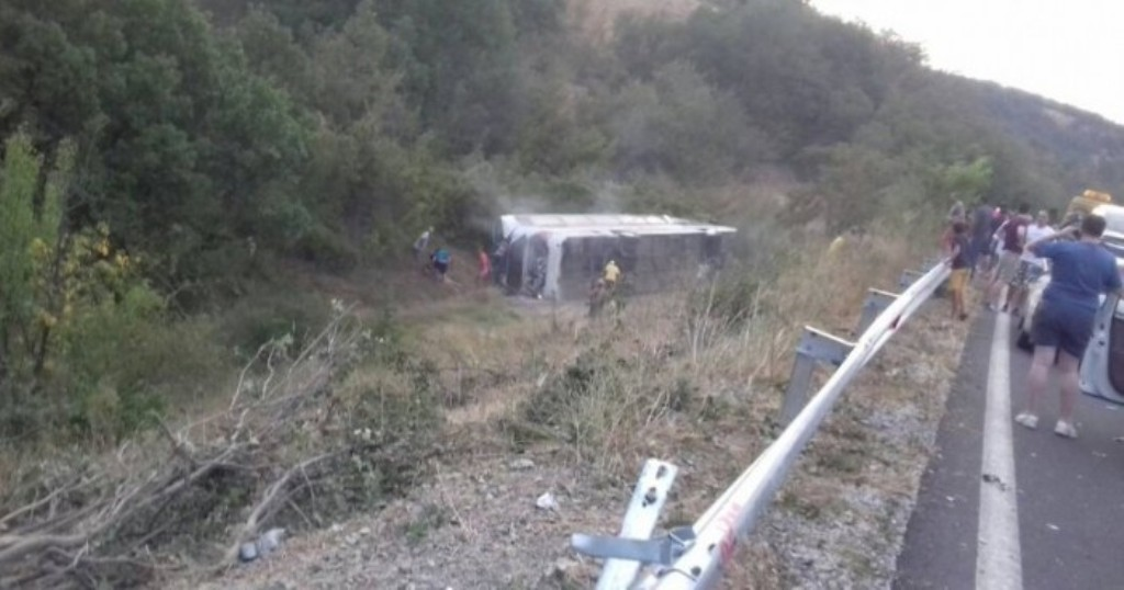 One dead and 25 wounded in a road accident in FYROM