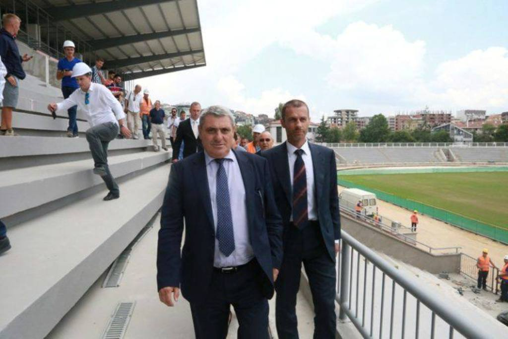 Pristina's stadium is being blocked by the political crisis