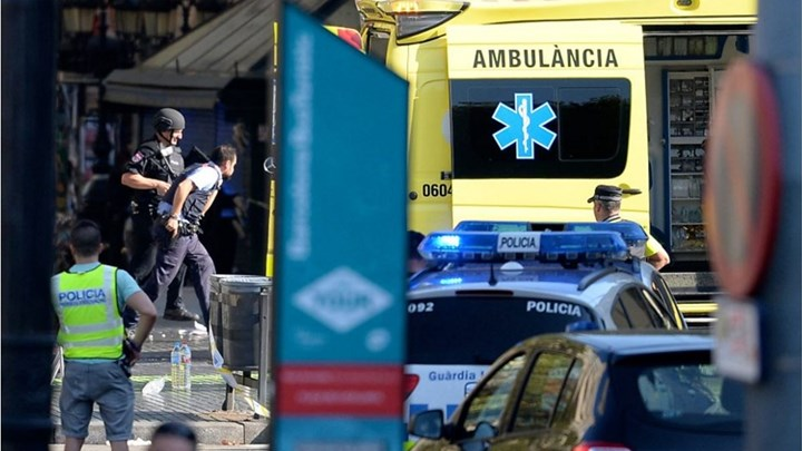 A Greek woman injured in the terrorist attack in Barcelona