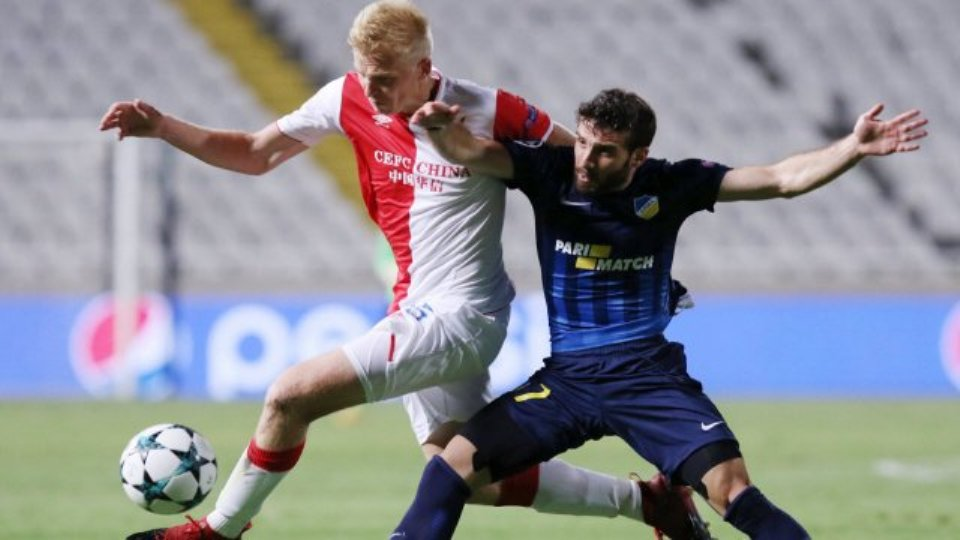 APOEL Nicosia beat Slavia Prague 2-0
