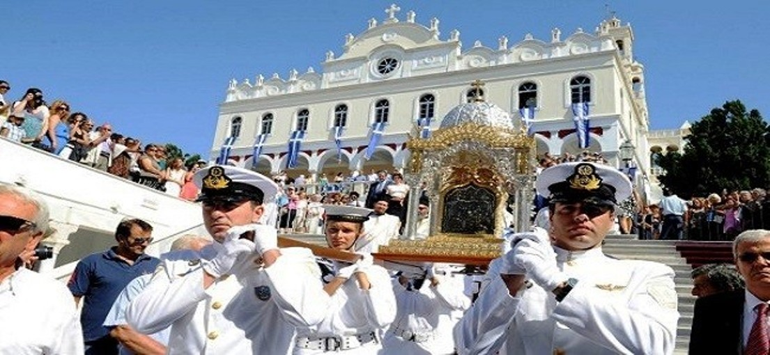 The Dormition of Virgin Mary, the Easter of summer, celebrated throughout Greece