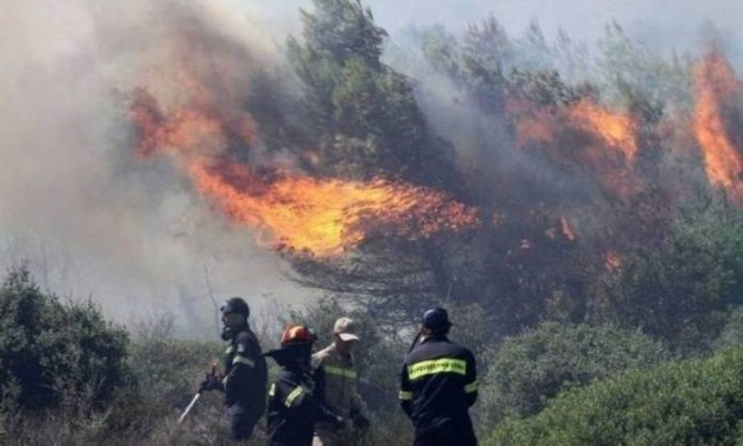 Wildfires rage on untamed in Greece
