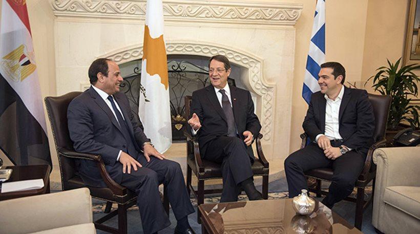 Tsipras, Anastasiades, El-Sisi to meet in Nicosia in November
