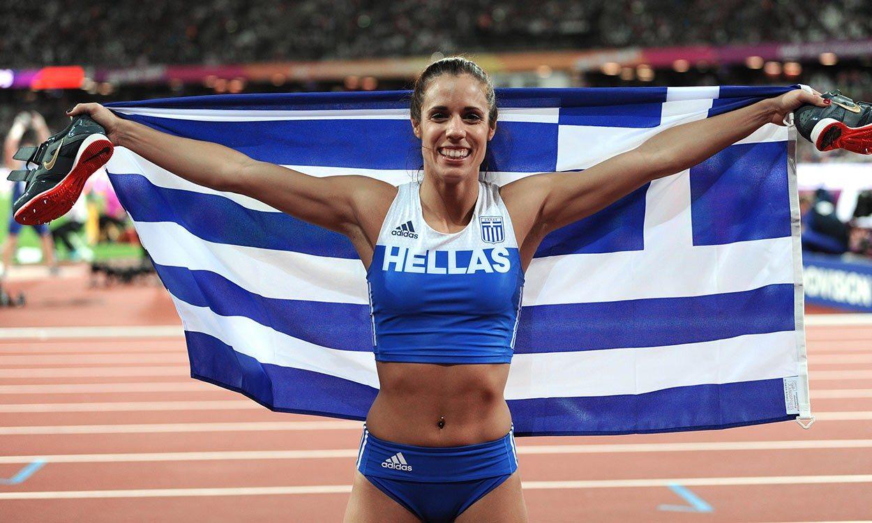 Katerina Stefanidi wins gold medal at London Athletic World Championships
