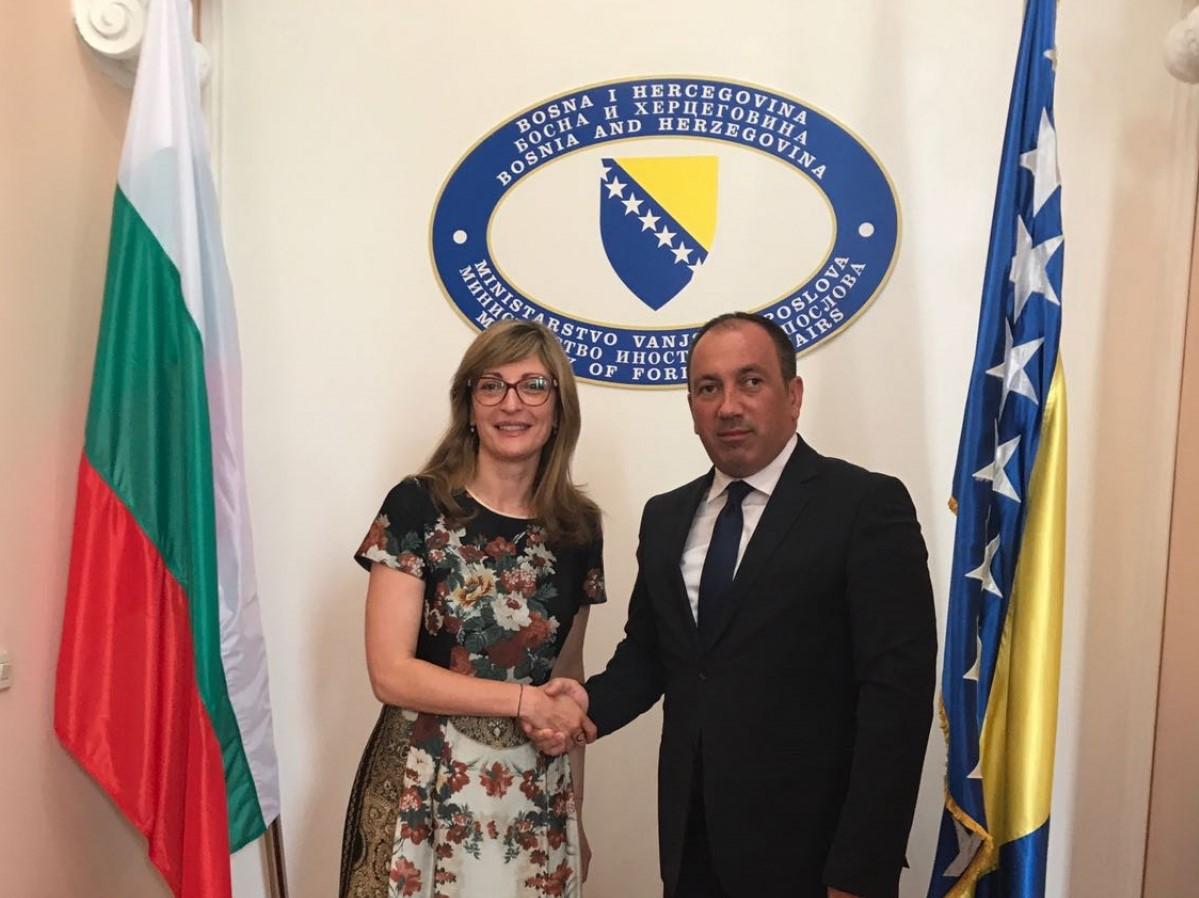 In Sarajevo, Bulgarian FM reiterates support for EU
