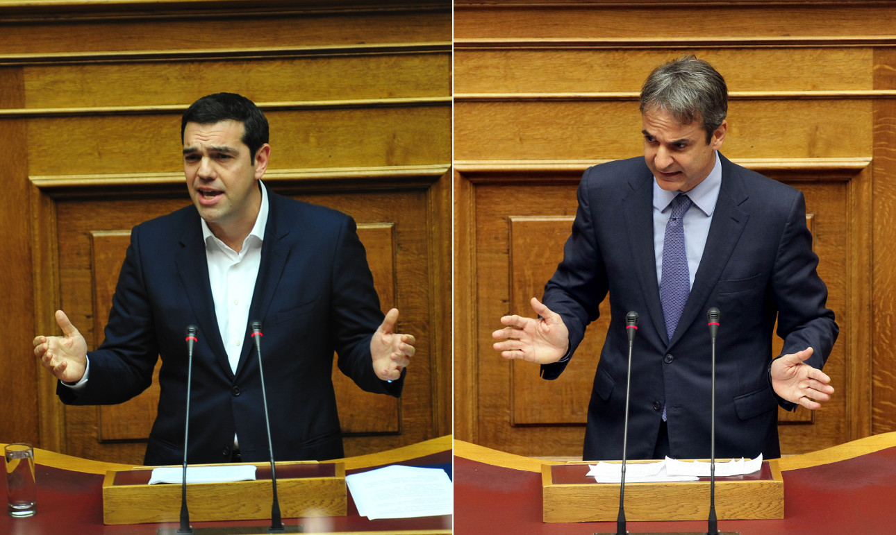 Tsipras, Mitsotakis clash in Parliament