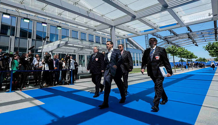 Prime minister Tsipras visits Estonia for the EU Summit.