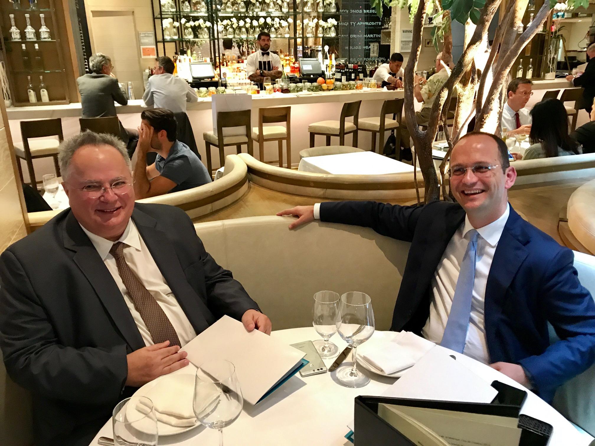 Ν. Kotzias met with homologues Bushati and Dimitrov in New York