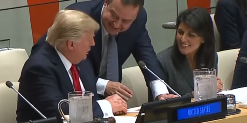 Trump asked Dacic about Ana Ivanovic