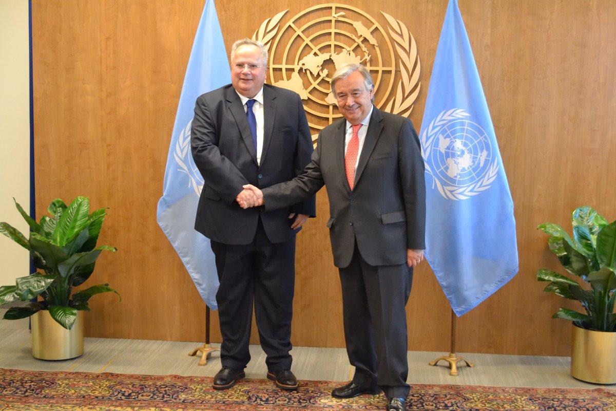 Nikos Kotzias kicks-off his meetings at the UN General Assembly High Level Week