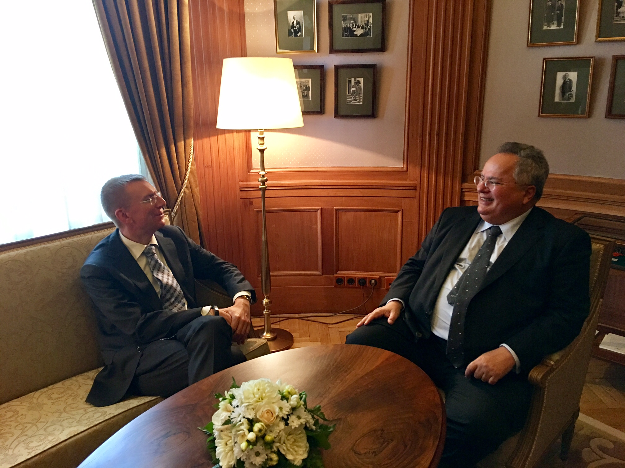 Greek Foreign Minister's visit to Riga highlights mutual desire for greater cooperation between Greece and Latvia