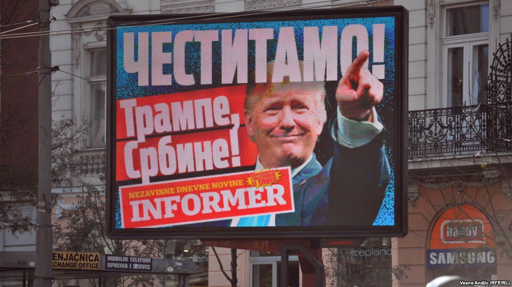 """Vucic hails Trump: """"Well done old chap!"""""""