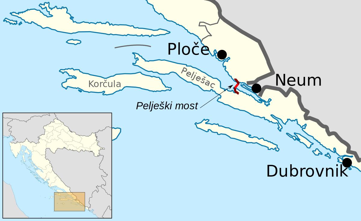 Peljesac bridge politically divides two countries