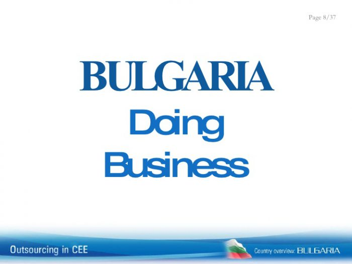 Bulgaria falls to 50th place in World Bank ease of doing business ranking of 190 economies