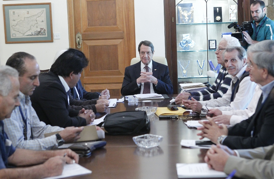 President Anastasiades received a delegation from the Pancyprian Occupied Territories Owners Association