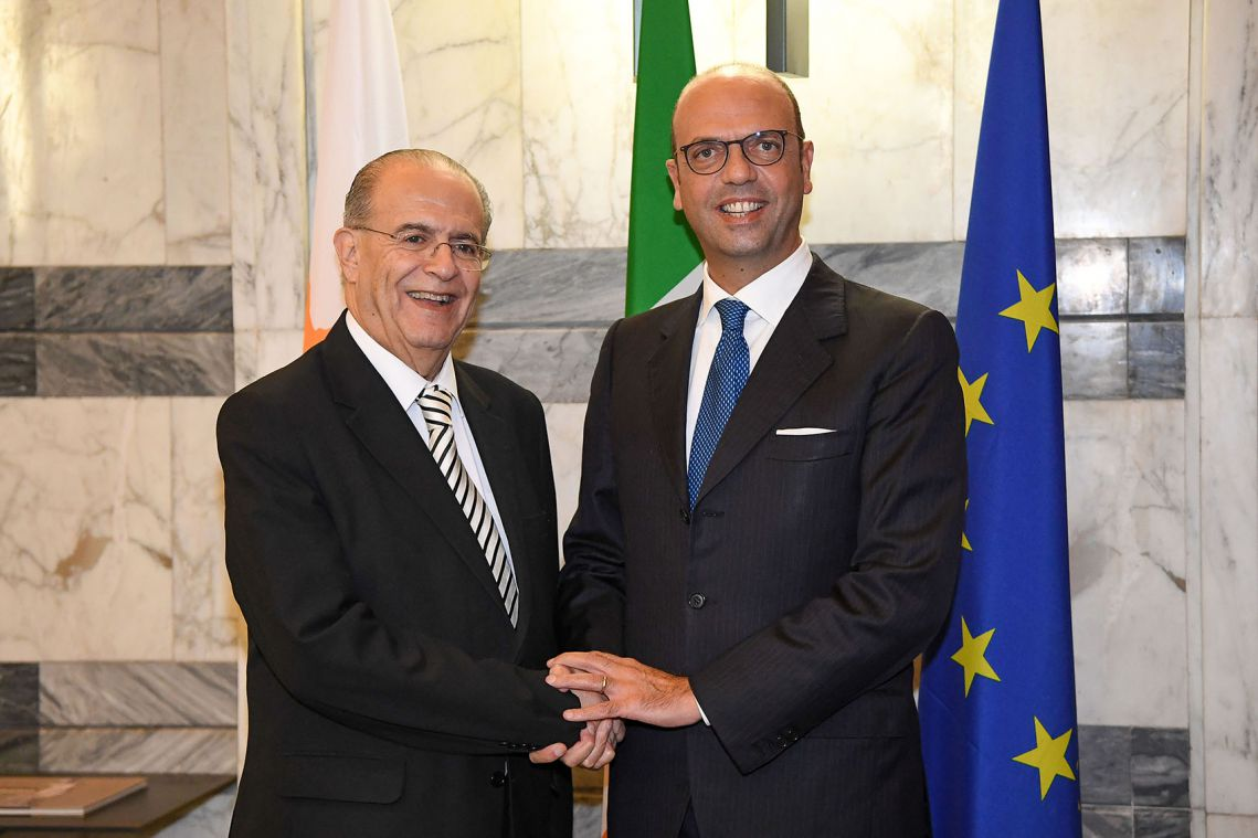 FM Kasoulides met with his Italian counterpart, in Rome