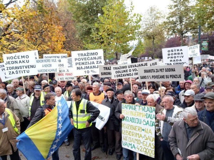Pensioners – The greatest rebels in BiH