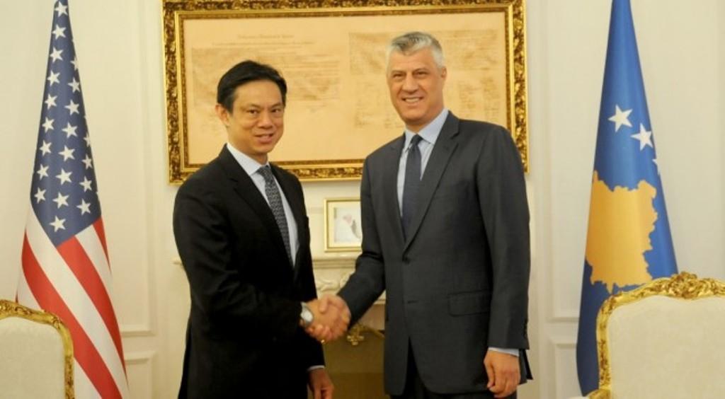 Hoyt Yee received by president of Kosovo Thaçi
