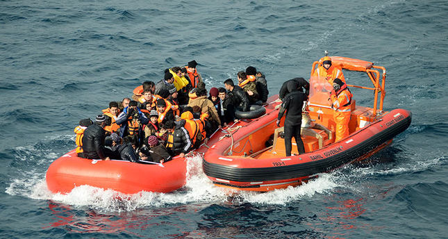 Number of migrants intercepted by Turkish Coast Guard on Aegean at a high
