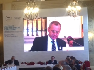 MFA Permanent Secretary participates in the opening of the OSCE Mediterranean Conference, in Palermo