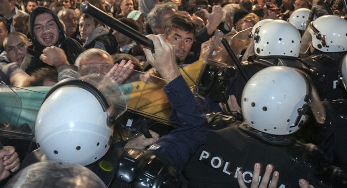 Montenegrin opposition take to the streets, police brutality not forgotten