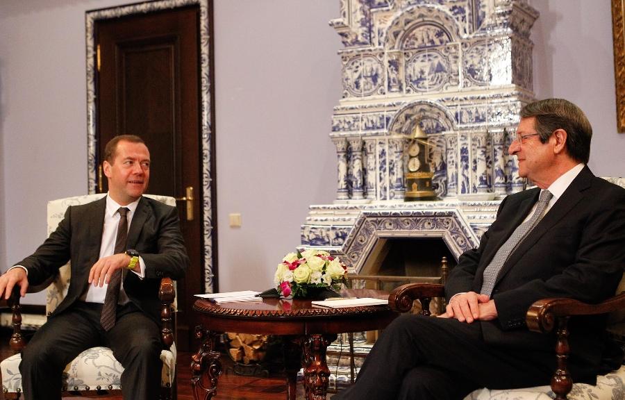 President Anastasiades met with Prime Minister Medvedev