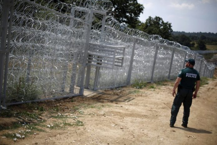 The Bulgarian Defence minister and the ladder at border with Turkey