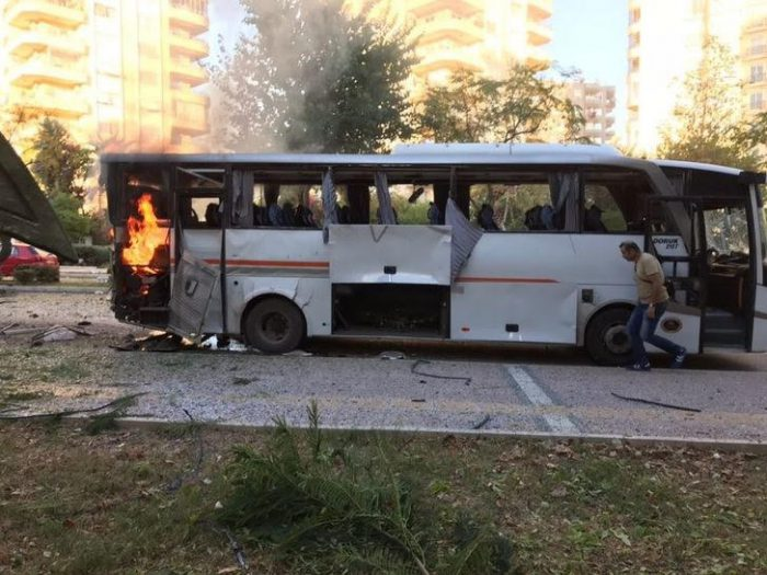 Bomb attack in Mersin, Turkey leaves 18 people wounded