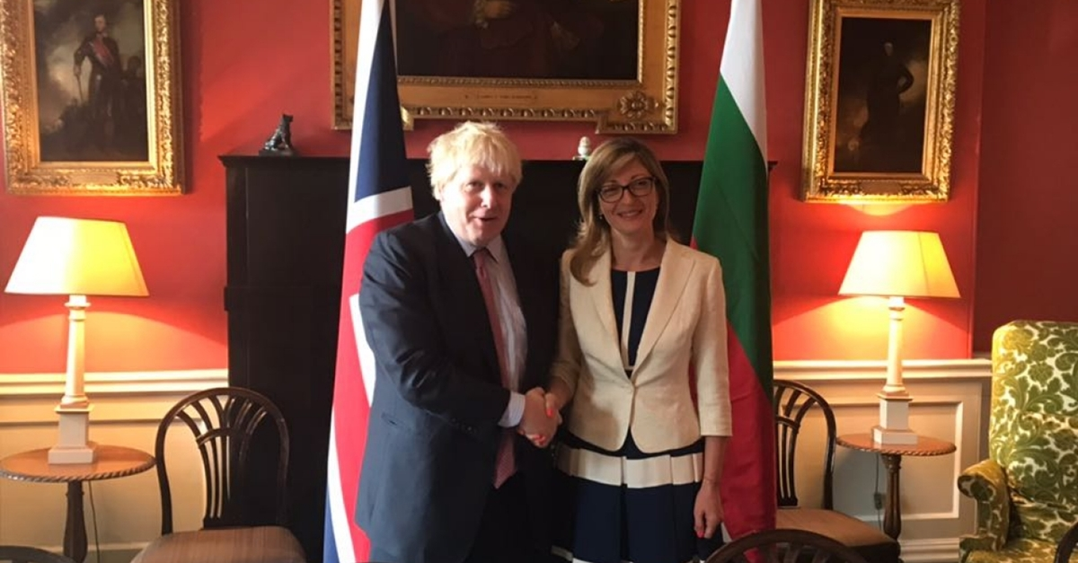 Boris Johnson tells Zaharieva: 'I am sure Bulgarian EU Presidency will be very successful'