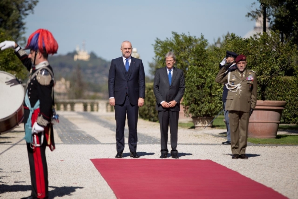 Albanian PM Rama holds an official visit to Italy