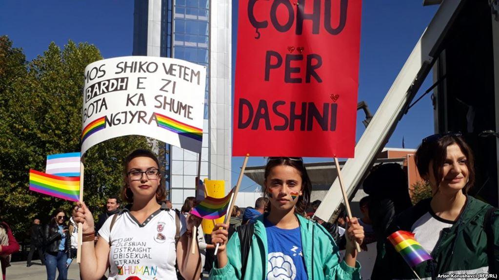 Gay Pride Parade is held in Pristina
