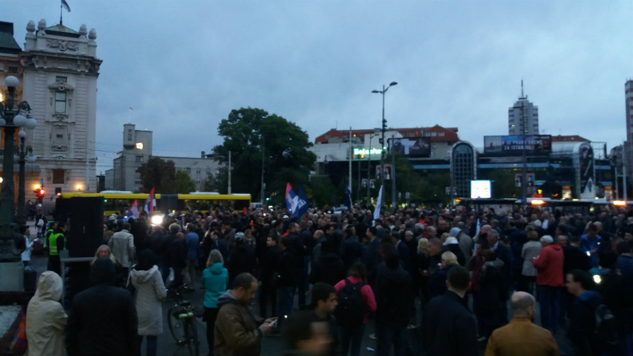 """Serbian opposition held protest """"Against election fraud"""""""