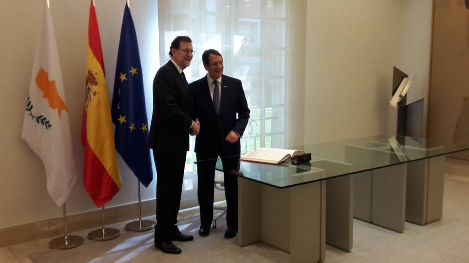 President Anastasiades had telephone communication with Mariano Rajoy