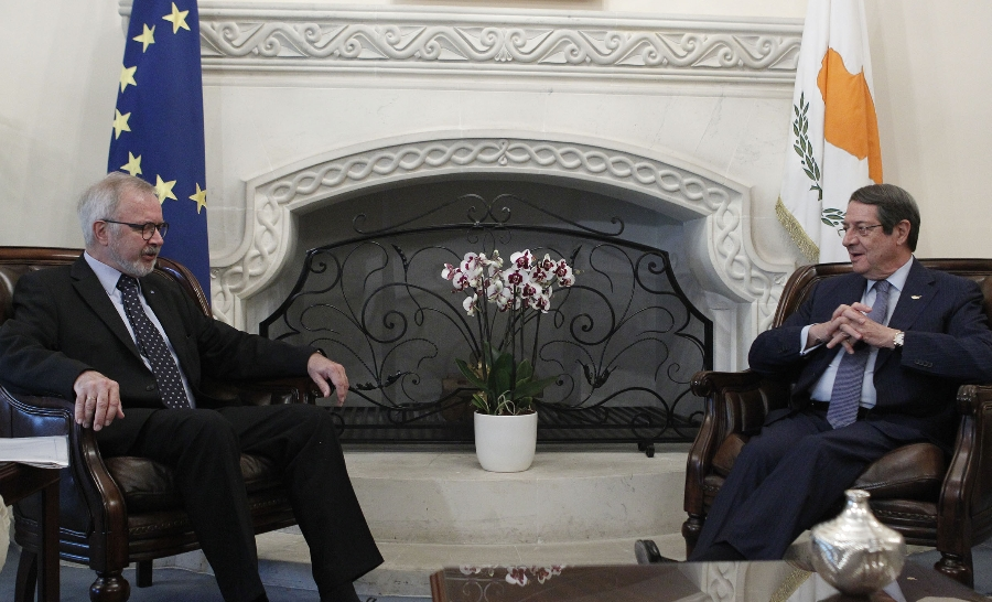 President Anastasiades received the President of the European Investment Bank