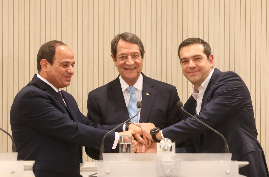 Cyprus-Greece-Egypt Trilateral Summit took place in Lefkosia