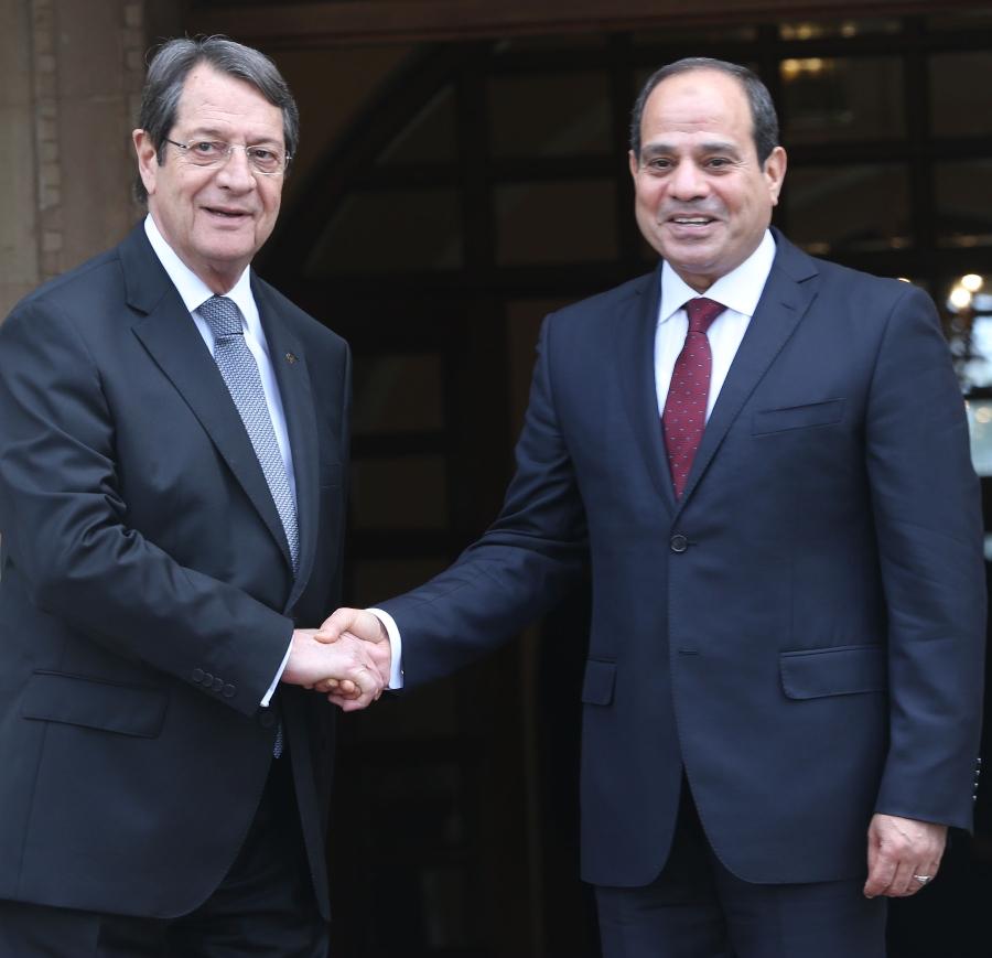 Presidents Anastasiades, Sisi met at the Presidential Palace in Nicosia