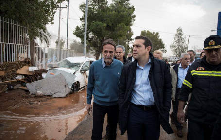 Greek government announce immediate financial rehabilitation for flood victims