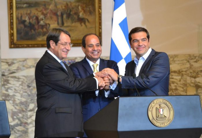 Tsipras, Sisi in Cyprus for the 5th Trilateral Summit