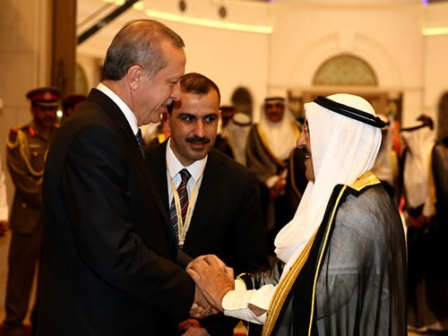 President Erdogan on an official visit to Kuwait