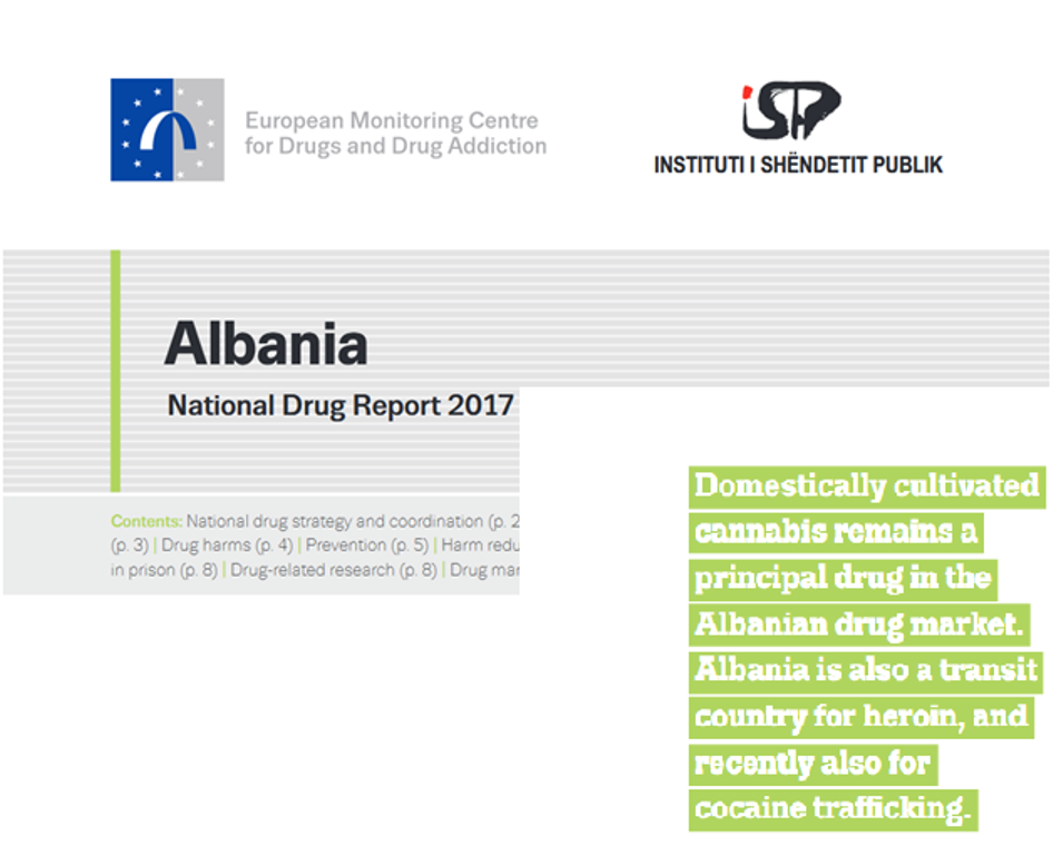 EMCDDA: Albania is a producer of cannabis and a transit country for heroin trafficking