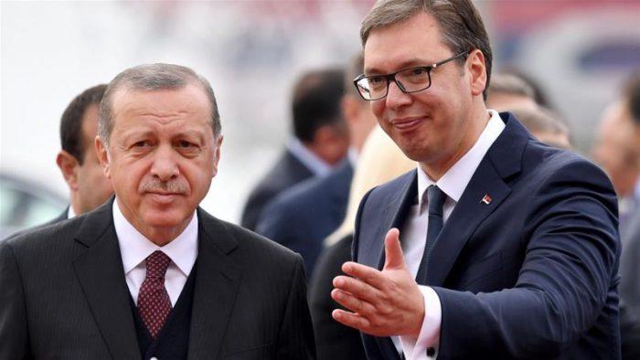 Erdogan praises Vucic for his role in the Balkans