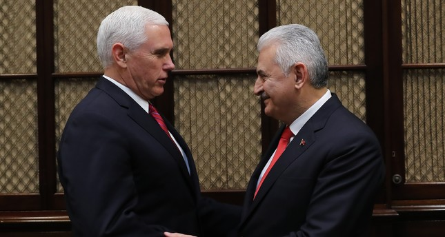 Pence meets Yildirim at the White House