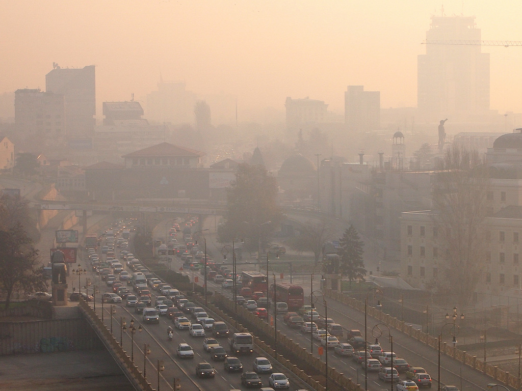 Atmospheric pollution in Skopje grows as temperature drops