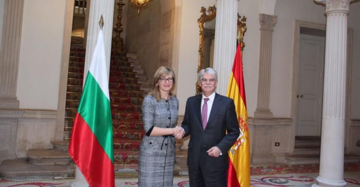 In Madrid, Bulgarian Foreign Minister reiterates support for Spanish stance on Catalonia