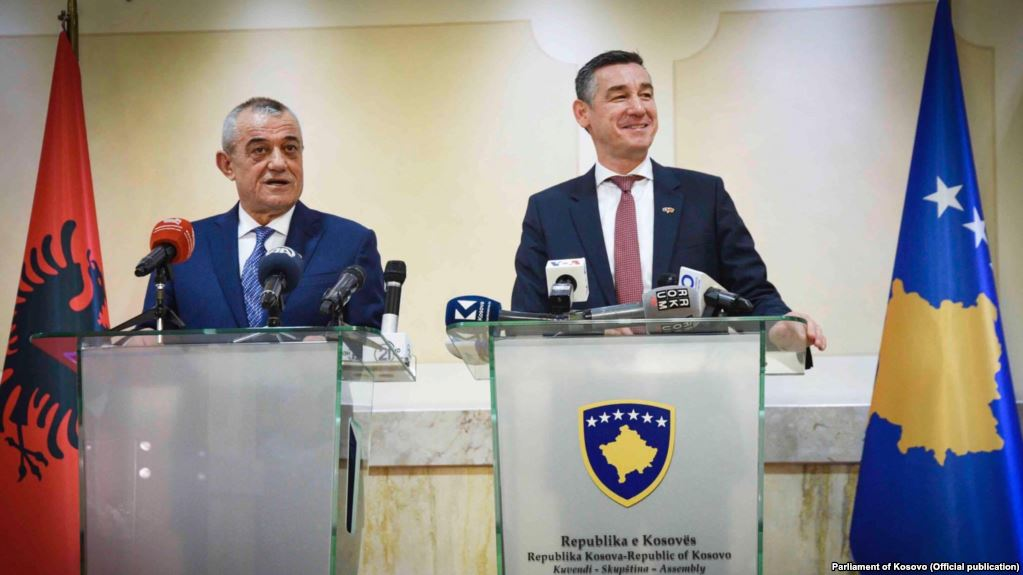 Albanian Assembly Speaker meets with his counterpart in Pristina