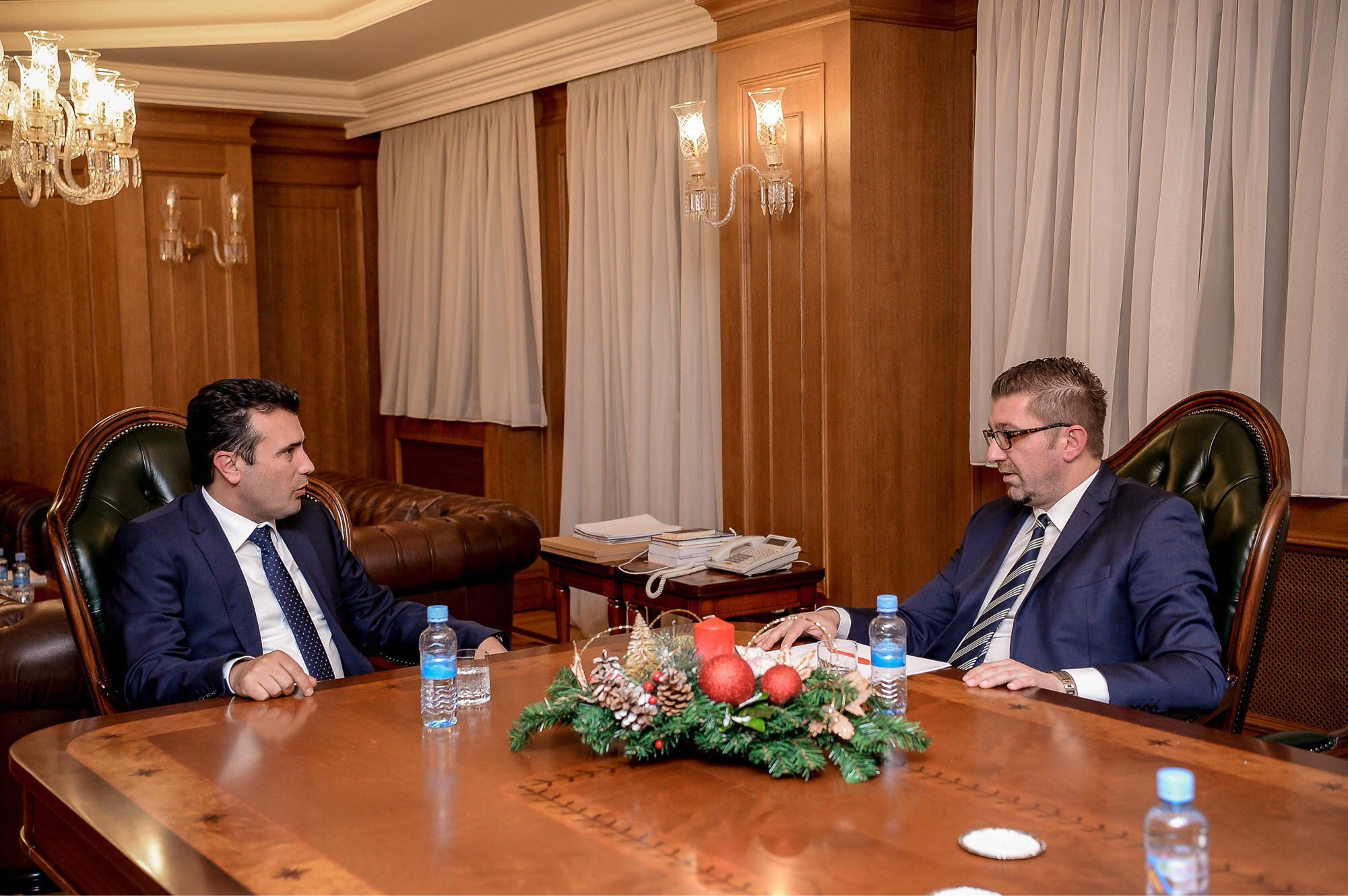 Leader of the ruling party Zaev meets head of the opposition Mickoski