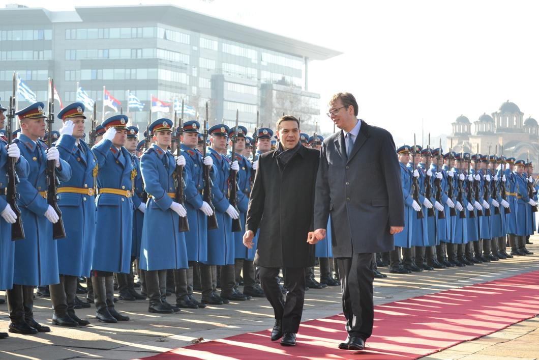 Alexis Tsipras in Belgrade for Christmas