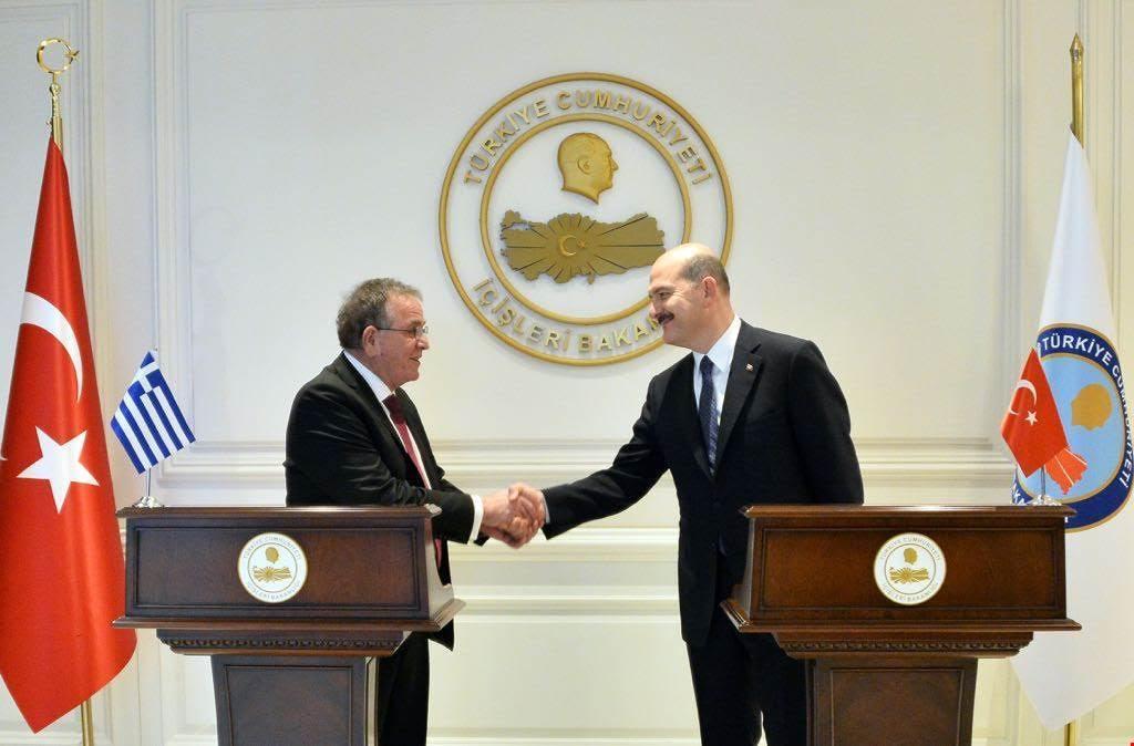 Mouzalas-Soylu meeting in Turkey
