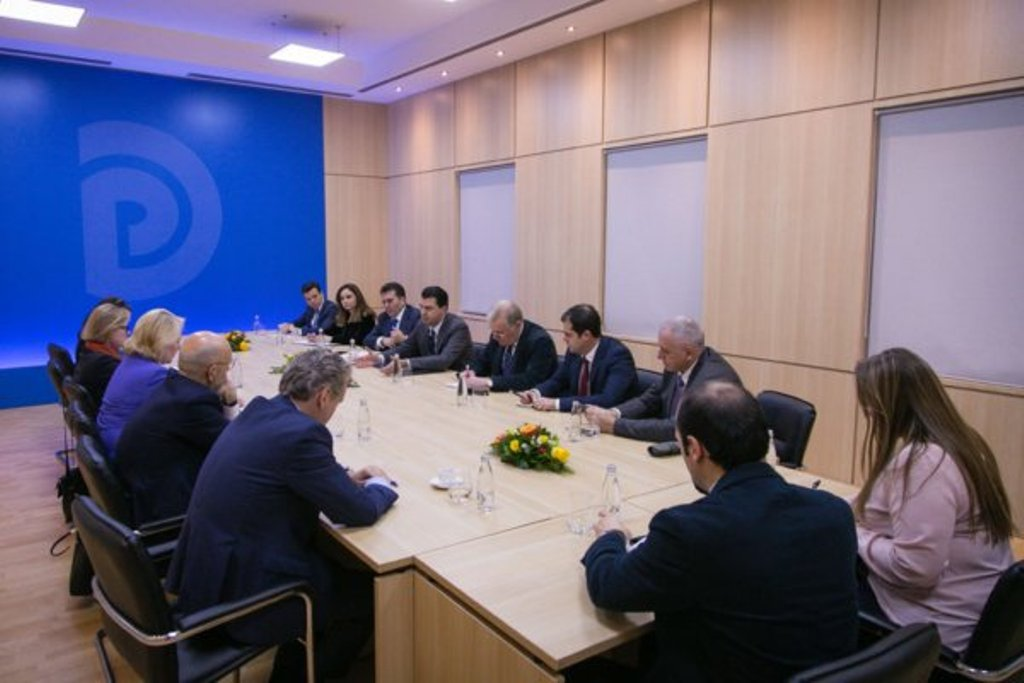 Head of the Albanian opposition meets foreign ambassadors to discuss the recent political developments